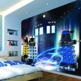 Murals Dr Who Daleks and Tardis Mural