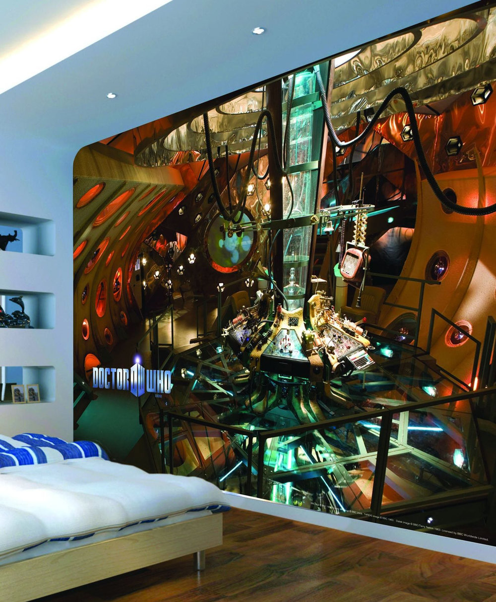 murals dr who inside of tardis mural - Dr Who Bedroom Ideas