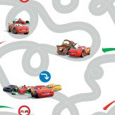 Kids @ Home Cars Racetrack Red & Grey Wallpaper - Product code: DF72599