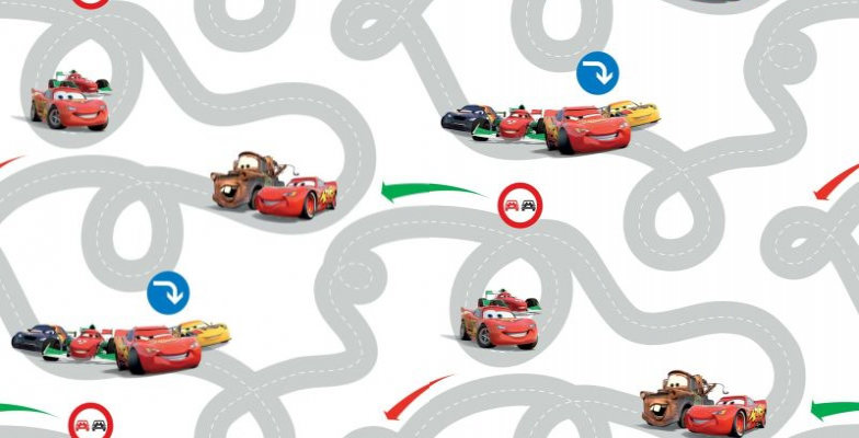 Image of Kids @ Home Wallpapers Cars Racetrack, DF72599
