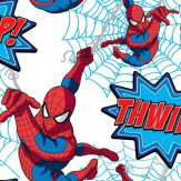 Kids @ Home Spiderman Thwip! Red Wallpaper