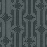 Little Greene Lavaliers Dark Grey Wallpaper