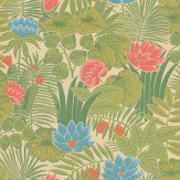 Little Greene Reverie Green Wallpaper
