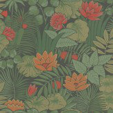 Little Greene Reverie Rich Green Wallpaper