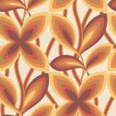Little Greene Starflower Orange Wallpaper