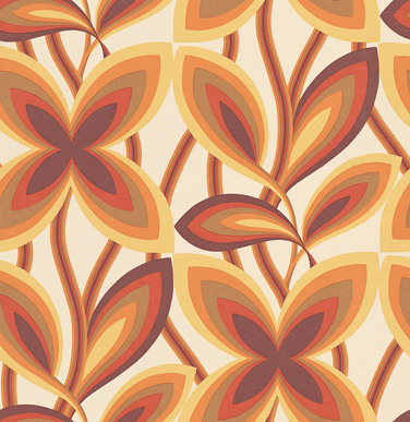 Little Greene Starflower Orange Wallpaper - Product code: 0280STMARIG