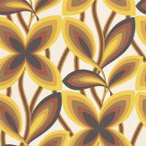 Little Greene Starflower Mustard Yellow Wallpaper