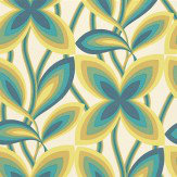 Little Greene Starflower Peacock / Yellow Wallpaper