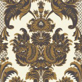 Cole & Son Wyndham Chocolate Brown Wallpaper