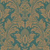 Cole & Son Blake Teal Green Wallpaper