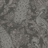 Cole & Son Byron Silver / Charcoal Wallpaper