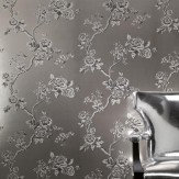 Carlucci di Chivasso Crush Cream / Grey / Silver Metallic Wallpaper