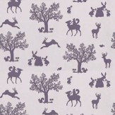 Hibou Home Enchanted Wood Aubergine / Lilac Wallpaper