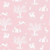 Hibou Home Enchanted Wood Pink Wallpaper