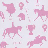 Hibou Home Gymkhana Pink / Lilac Wallpaper