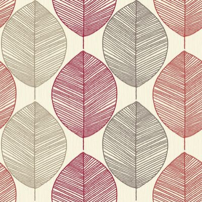 Arthouse Wallpapers Retro Leaf Red, 408205