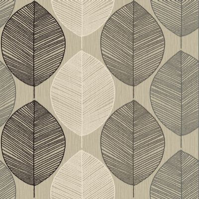 Arthouse Wallpapers Retro Leaf Taupe 408206
