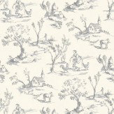 Clarke & Clarke Helena Charcoal Wallpaper - Product code: W0030/01