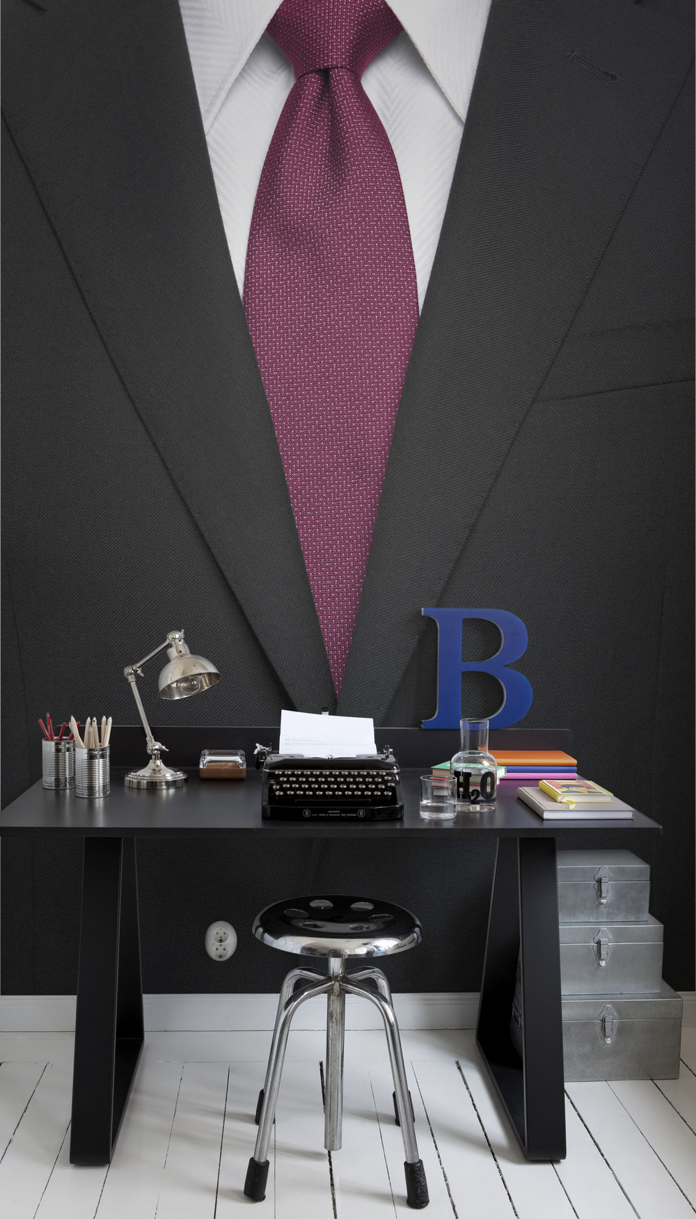 Mr Perswall Black Suit Mural - Product code: P140302-4