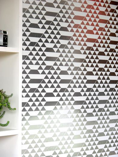 Teepee Wallpaper - White / Silver - by Erica Wakerly