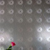 Erica Wakerly Minispiral Grey / Silver Wallpaper