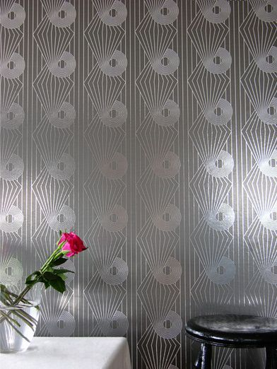 Erica Wakerly Minispiral Grey / Silver Wallpaper - Product code: MIN G/S