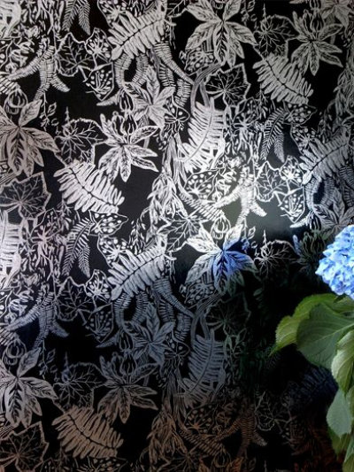 Image of Erica Wakerly Wallpapers Hothouse Black Silver, HOT B/S