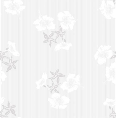 Image of Erica Wakerly Wallpapers Hibiscus Grey White, HIB G/W