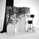 Arthouse Trees Silhouette Screen Room Divider