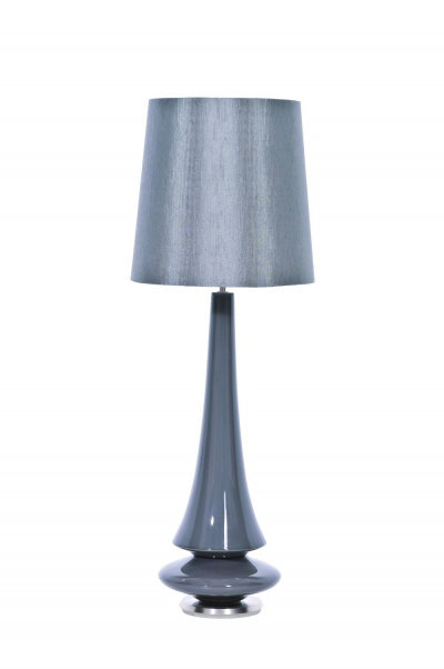 Image of Elstead Lighting Lighting Spin Grey Table Lamp, HQB/Spin Grey