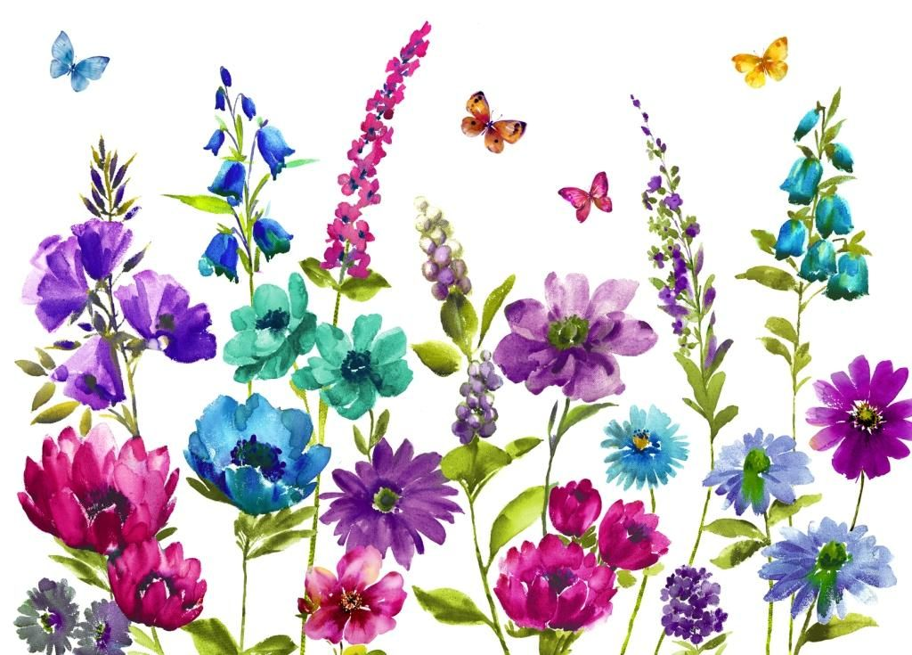 Cottage Garden Frames Print By Arthouse Wallpaper Direct