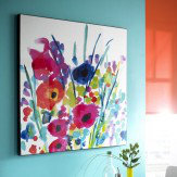 Arthouse Flower Burst Lacquer Canvas Art