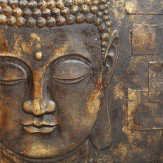 Arthouse Black and Gold Buddha 3D Relief Art
