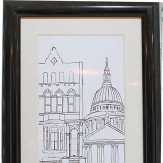 Arthouse Architectural London White Framed Print Art