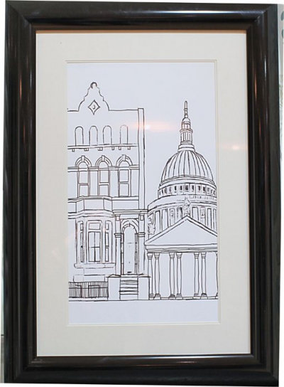 Image of Arthouse Art Architectural London White Framed Print, 002531