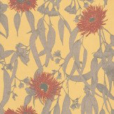 St Vitus Eucalypt Yellow / Red / Grey Wallpaper