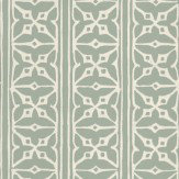 St Vitus Fretwork Green Wallpaper