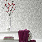 Graham & Brown Curvy White Wallpaper