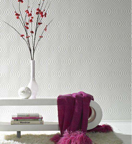 Superfresco Curvy White Wallpaper - Product code: 17583
