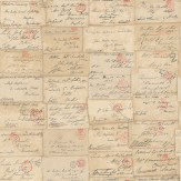 Andrew Martin Love Letter Parchment Wallpaper