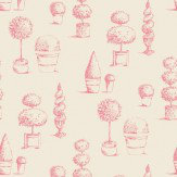 Clarke & Clarke Topiary Raspberry Wallpaper - Product code: W0032/03