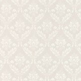 Graham & Brown Medium Damask White Wallpaper