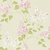 Sanderson Lilacs Pink / Stone Wallpaper - Product code: 211985
