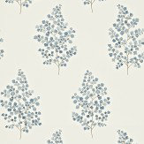 Sanderson Angel Ferns Blue / Off White Wallpaper