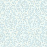 Sanderson Ashby Damask Blue / Ivory Wallpaper - Product code: 211999