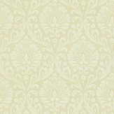 Sanderson Ashby Damask Linen / White Wallpaper