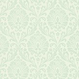 Sanderson Ashby Damask Cream / Duck Egg Wallpaper - Product code: 212001