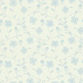 Sanderson Sabine Ivory / Blue Wallpaper
