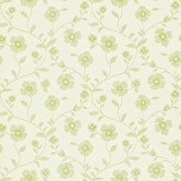 Sanderson Sabine Ivory / Lime Wallpaper