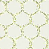 Sanderson Fleur Trellis Green / Yellow Wallpaper